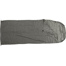 Basic Nature Silk Sleeping Bag Liner Blanket Shape, anthracite